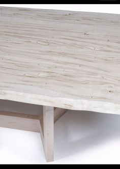 Bleached Ambrosia Maple Table