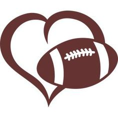 Silhouette Design Store - View Design #145445: ball football heart