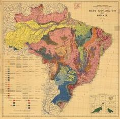 Geological map of Brazil, 1960