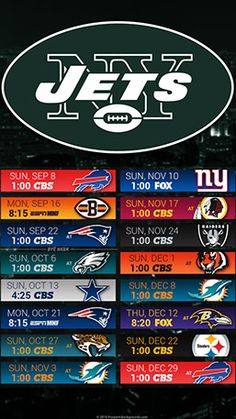 New York Jets 2019 Mobile City NFL Schedule Wallpaper