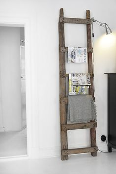 Step Up: 22 Ways to Repurpose an Old Ladder via Brit + Co.