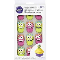 Monster Royal Icing Decorations