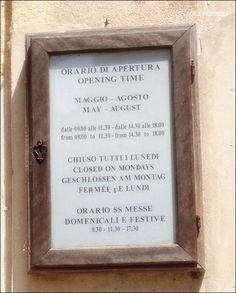 Gli orari di apertura da maggio ad agosto della #Certosa di #Pavia  (dal blog robedamamma.it)