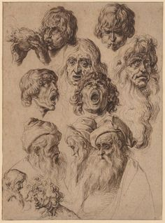 Jacob de Gheyn II, Study of eleven heads. The Metropolitan Museum of Art,    codart.nl