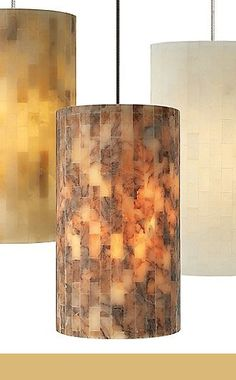 natural cylindar pendant lighting