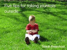 Five tips for taking preschool journals outside