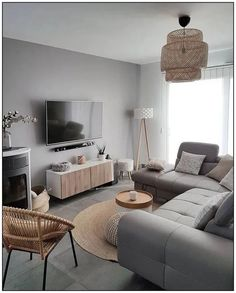 150 gorgeous living room color schemes to make your room cozy 82 Grey Walls Living Room, Living Room Color Schemes, Small Living Rooms, Home Living Room, Small Living Room Ideas With Tv, Living Room Ideas Grey Floor, Lamps For Living Room, Budget Living Rooms, Living Room And Bedroom In One