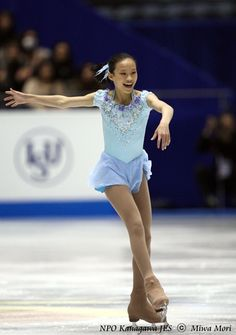 Christina Gao -Blue Figure Skating / Ice Skating dress inspiration for Sk8 Gr8 Designs.