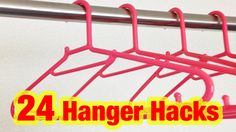 24 Simple Hanger Life Hacks!!  This is fabulous!!