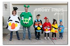 Sugar Bee Crafts: sewing, recipes, crafts, photo tips, and more!: Photo Glimpse - family shots (Love the family angry birds!)