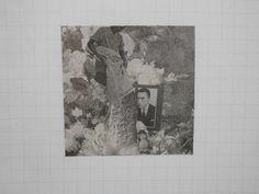 Ebosi Yuasa;Newspaper collage 5×5cm