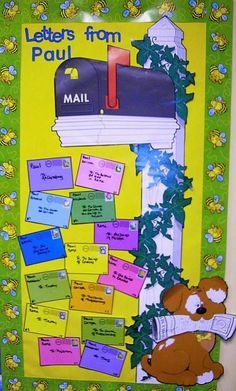 Bible Fun For Kids: Acts & Life of Paul Bulletin Boards - letters from Paul Sunday School Classroom, Sunday School Kids, Sunday School Lessons, Sunday School Crafts, School Week, School Staff, Bible Crafts For Kids, Bible Lessons For Kids, Kids Bible
