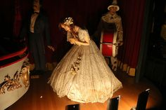 A wax figure of singer Sarah Bernhardt inside the Musee Conti Wax Museum in the French Quarter