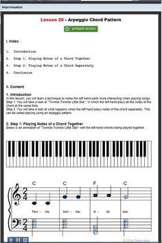 PIANO ARPEGGIO EXERCISES