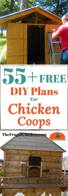 Chicken Coop - Got chickens? Theyll need a place to call home! Heres 55 totally free DIY chicken coop plans to help you design your coop! Building a chicken coop does not have to be tricky nor does it have to set you back a ton of scratch. Chicken Coop Plans Free, Cheap Chicken Coops, Chicken Barn, Portable Chicken Coop, Chicken Coop Designs, Backyard Chicken Coops, Building A Chicken Coop, Chicken Runs, Chickens Backyard