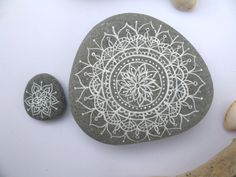 Painted Stones Hand Painted Mandala Patterns Painted by GeoJoyful