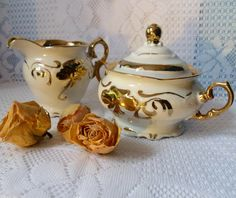 ♫  Milch-und Zuckerset Walbrzych  ♫ von *Cafe-Antique* auf DaWanda.com