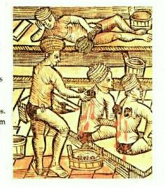 Unknown source, from a book on medieval life in the medical section.