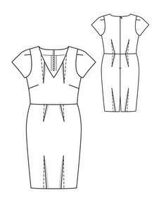 burda, wiggle dress www.sewingavenue.com