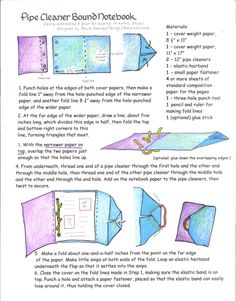 How to make a Pipe Cleaner Bound Notebook/Scrapbook by Paula Beardell Krieg