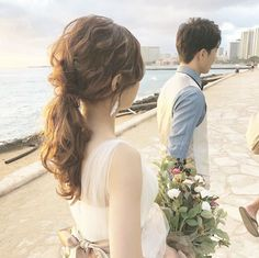 Wedding Hairstyles, Wedding Photos, Hare, Hair Styles, Instagram, Marriage Pictures, Hair Plait Styles, Bunny, Hair Makeup