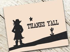 Cowgirl or Cowboy Thank You for a Western Birthday Shindig -- (DIGITAL FILE) -- Also available as Printed Cards. $12.00, via Etsy. Birthday Celebration, Birthday Wishes, 2nd Birthday, Birthday Cards, Cowboy Party, Cowboy And Cowgirl, Cowgirl Birthday, Pony Party, Thank You Notes