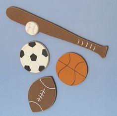 Hanging Basketball Football Baseball and Soccer SPORTS by lisabees, $26.95