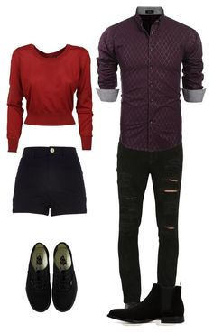 """mafia. Harley and Ryan"" by love-teen-fashions ❤ liked on Polyvore featuring Dolce&Gabbana, River Island, Vans, Giorgio Brato and ALDO"