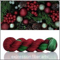 Holly and ivy twisted tweed sport is part of Knitting and Crochet Fiber Art - A Positive Twist on Yarn Crochet Yarn, Knitting Yarn, Expression Fiber Arts, Ombre Yarn, Yarn Thread, Sport Weight Yarn, Sock Yarn, Hand Dyed Yarn, Yarn Needle