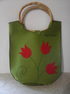 Shopping bag in feltro
