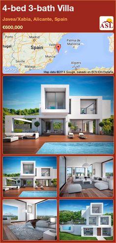 4-bed 3-bath Villa in Javea/Xabia, Alicante, Spain ►€600,000 #PropertyForSaleInSpain