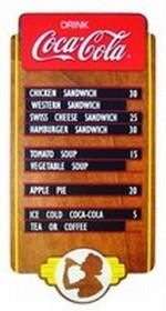 Coca-Cola Wood Menu Board