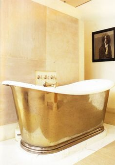 #Tub # gold # bathroom. Yes, that seems to cover the situation