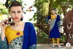 Catalog MOQ : Fullset Total Design : 12 Catalog Name: Kersom Noor Category : Kurti Price : 4850 Fabric : Cotton + Print = Rayon Quality Silaai Pattent Concept Brand : Kersom, New Kersom Noor Kurti Catalog