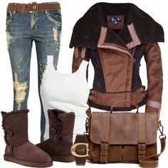 Style Inspiration - I Love Shoes, Bags & Boys Jean Outfits, Cool Outfits, Style And Grace, My Style, Stylish Plus, Girls Boutique, Material Girls, Winter Outfits, Winter Clothes