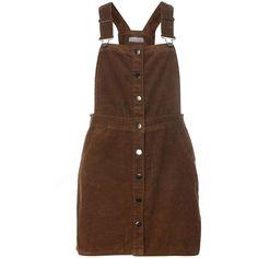Dorothy Perkins Petite Khaki Button Pinny Dress ($55) ❤ liked on Polyvore featuring dresses, khaki, petite, khaki dresses, cotton dresses, petite dresses, dorothy perkins and pinafore dress
