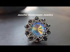 "Tutorial Anello/ Orecchini Swarovski e Superduo "" Paradise"" - - YouTube"