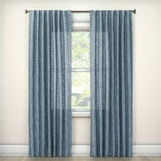 "Textured Weave Window Curtain Panel Blue (54""x95"") - Threshold, Dewdrop Aqua"