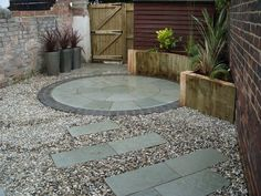 patio ideas for small backyards | ... ideas patios decking Knightingale landscapes small garden ideas patios