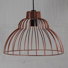 Brunel industrial chic wire lampshade in 'Burnt Copper'!