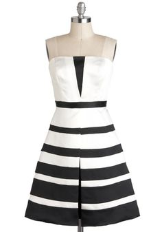 This makes me want to grab my guy and go drink champagne somewhere! $157.99 at Modcloth  Call It a Black Tie Dress, #ModCloth