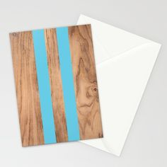 Wood Grain Stripes - Light Blue Stationery Cards by Natural Collective Co. Geometric Decor, Wood Texture, Wood Grain, Plank, Hardwood, Grains, Triangle, Light Blue, Stationery