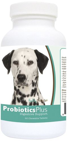 Healthy Breeds Probiotic Plus Digestive Support Chewables, Dalmatian 60Count * Find out more about the great product at the image link. (This is an affiliate link and I receive a commission for the sales)