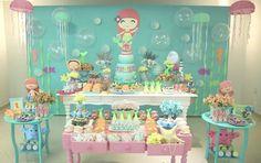 scrap festa tema princesa ariel - Pesquisa Google