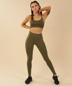 Gymshark Aspire Leggings - Khaki