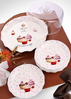 ACR Kek Fanusu ve 6 Adet Pasta Tabağı Online Satın Al | ACR | Markafoni