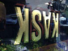 Gold Leaf Lettering, KASK, Portland
