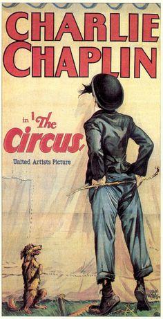 The Circus 1928 Three Sheet Movie Poster Art by Hadley Starring Charlie Chaplin