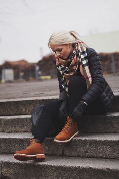 timberlands and burberry// winter