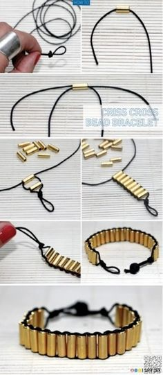 4. #CRISS CROSS BEAD BRACELET - 30 #Amazing DIY Bracelets You Have to #Check out ... → DIY #Bracelet